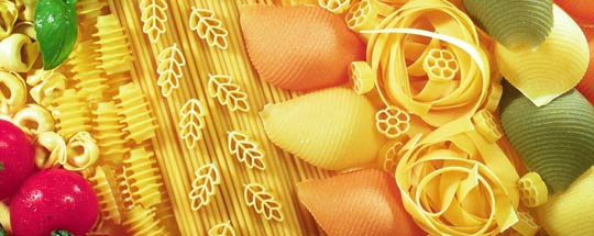 Pasta : varieties of forms and colours ©  Jean WEBER / INRA